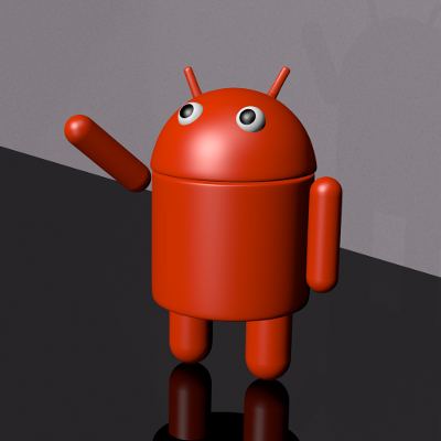 render lateral del robot de Android