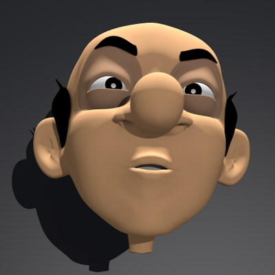 render expresion facial Morgan