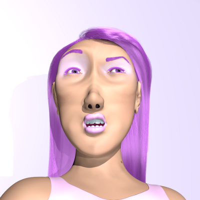 render facial desconfiada
